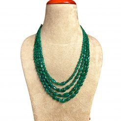 460 Carats Natural Emerald Oval Beads Necklace