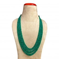 320 Carats Six Strands Emerald Faceted Beads Necklace