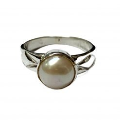 Unisex South Sea Pearl Ring made with Sterling Silver