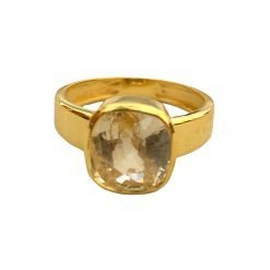 18k Gold Certified Yellow Sapphire Ring