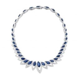 Sapphire Necklace made with Sterling Silver