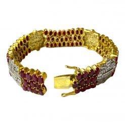 Fine Ruby Bracelet In Sterling Silver