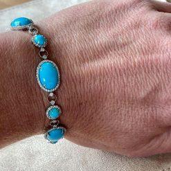 925 Sterling Silver Turquoise Bracelet
