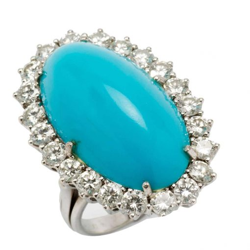 925 Sterling Silver Natural Turquoise Ring