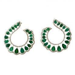 Premium Emerald Earrings in Sterling Silver