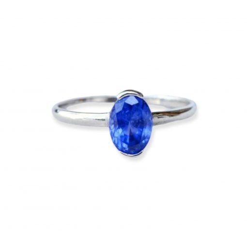 925 Sterling Silver Natural Blue Sapphire Ring