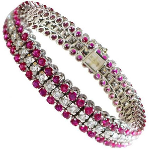 Lovely Ruby Bracelet made with Sterling Silver